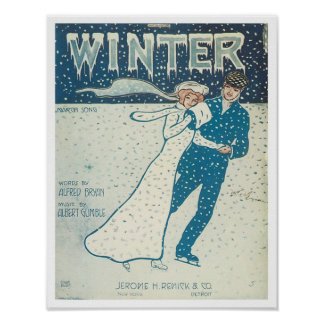 Winter Songbook Cover Print
