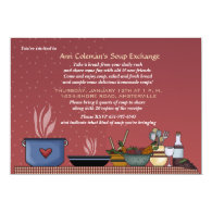 Winter Soup Exchange Invitation