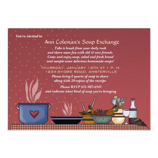 winter soup exchange invitation. Black Bedroom Furniture Sets. Home Design Ideas