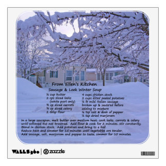 Winter Soup Recipe Wall Decal