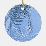 """""""Winter Spiral Blue"""" collection Christmas Ornament"""