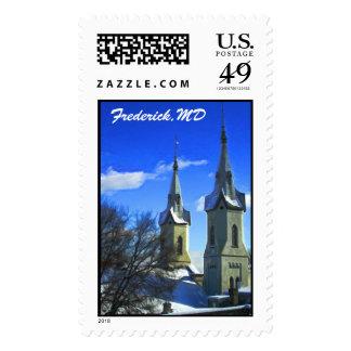 Winter Spires Postage Stamps