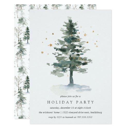 Winter Splendor  Holiday Party Invitation