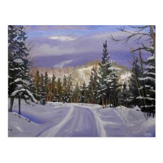 Winter Splendor Oil Landscape Painting Postcard