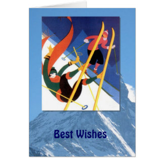 Winter Sports - A little tumble Greeting Card