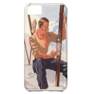 Winter sports - Adjusting the skis iPhone 5C Case