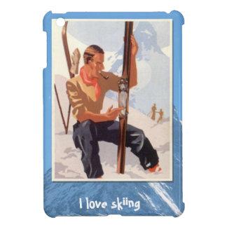 Winter sports - Adjusting the skis iPad Mini Cases