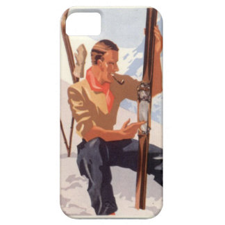 Winter sports - Adjusting the skis iPhone SE/5/5s Case