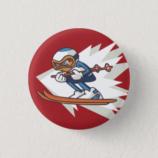 Winter Sports Alpine Skiing Flair Button