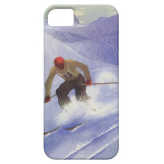 Winter sports - Downhill race iPhone 5 Covers