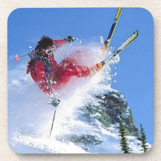 Winter sports, extreme ekiing drink coaster