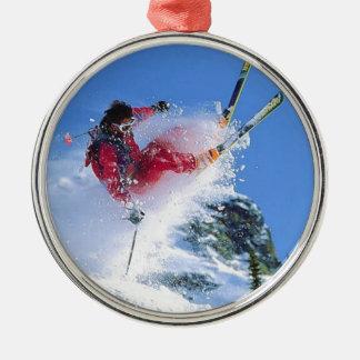 Winter sports, extreme ekiing metal ornament