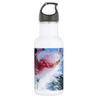 Winter sports, extreme ekiing stainless steel water bottle