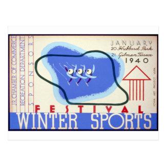 Winter Sports Festival Postcard
