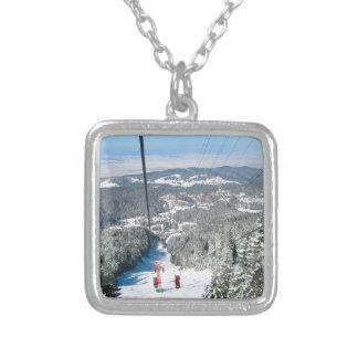 Winter sports in Piana Brasov, Romania Personalized Necklace