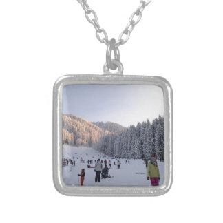Winter Sports in Romania, Piana Brasov Personalized Necklace