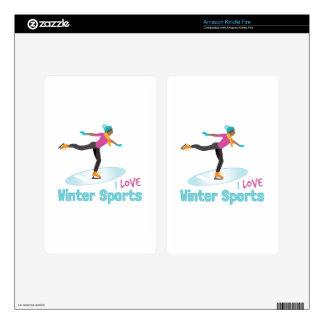 Winter Sports Kindle Fire Skin