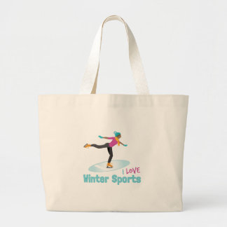 Winter Sports Large Tote Bag