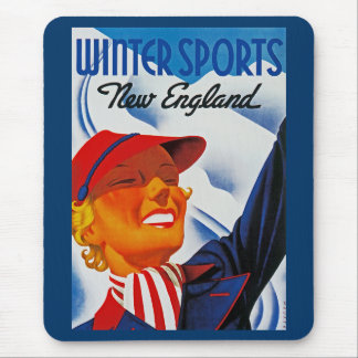 Winter Sports New England Mouse Pad
