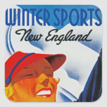 Winter Sports New England Stickers
