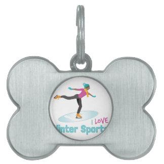 Winter Sports Pet ID Tag