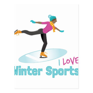 Winter Sports Postcard