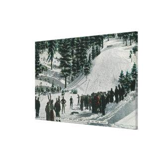 Winter Sports Scene at Charleston Mountain Canvas Print