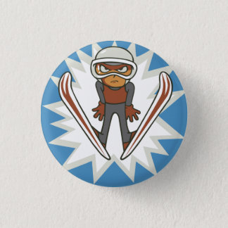 Winter Sports Ski Jumper Flair Pinback Pinback Button