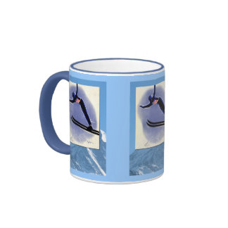 Winter sports - Ski jumper Ringer Coffee Mug