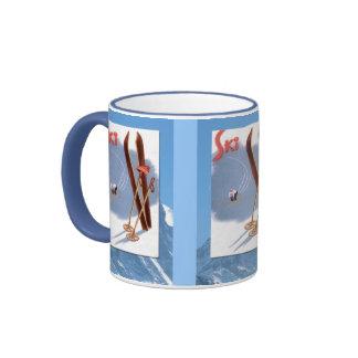 Winter sports - Ski stuff Ringer Coffee Mug