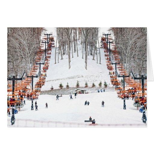 Winter Sports Skiing Greeting Card