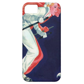 Winter sports - Skiing in tandem iPhone SE/5/5s Case