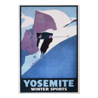 Winter Sports Skiing Promotional Poster