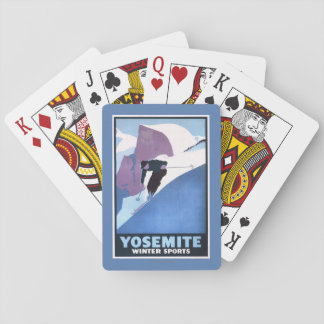 Winter Sports Skiing Promotional Poster Playing Cards