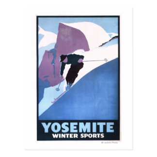 Winter Sports Skiing Promotional Poster Post Cards