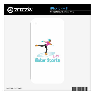Winter Sports Skin For iPhone 4S