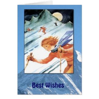 Winter Sports - Vintage ski season Card