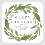 """Winter Sprigs Christmas Sticker<br><div class=""""desc"""">Winter Sprigs Christmas sticker. Customizable. Part of a collection</div>"""