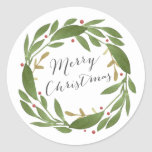 "Winter Sprigs Christmas Sticker<br><div class=""desc"">Winter Sprigs Christmas Sticker. Customizable</div>"