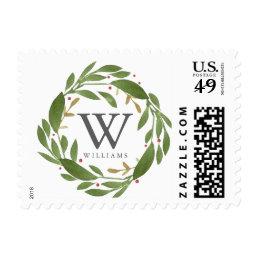 Winter Sprigs Monogrammed Stamp