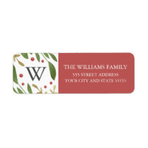 Winter Sprigs Return Address Label