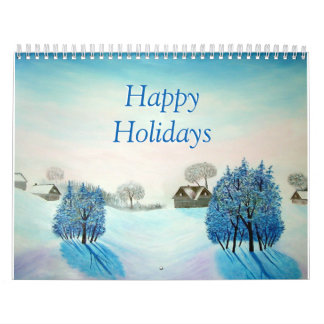 Winter Spring Summer Fall Original Landscapes Calendar