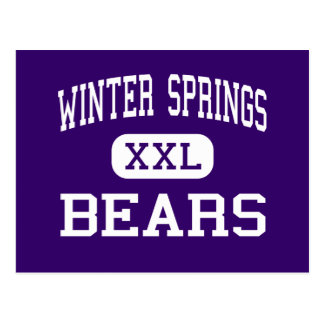 Winter Springs - Bears - High - Winter Springs Postcard