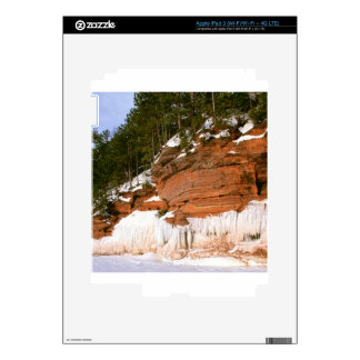 Winter Squaw Bay Sea Caves Wisconsin Skins For iPad 3