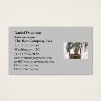 Winter Squirrel in Snow Business Card