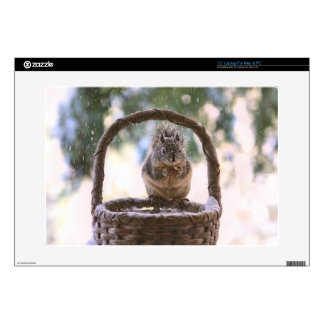 Winter Squirrel in Snow Decal For Laptop