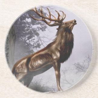 Winter Stag Coaster