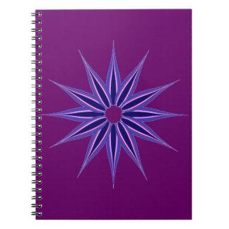 Winter Star Spiral Notebook