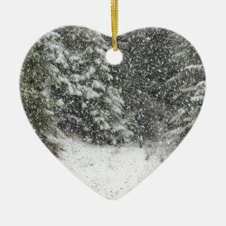 Winter Storm Ceramic Ornament