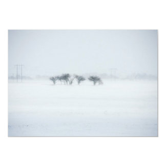 Winter storm landscape card